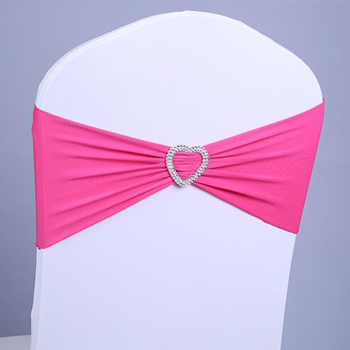 Wedding chair covers rhinestone ribbon heart buckle with the finished product back elastic bow tie chair cover decorative