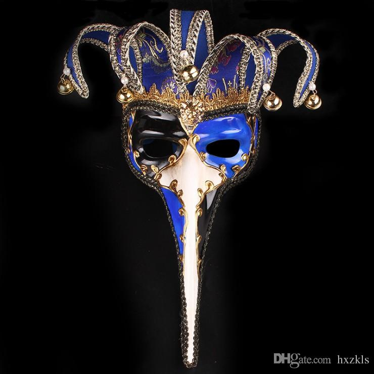 Cross Border For Halloween Party Trunks Half Face Mask Christmas Bell Masquerade Wholesale