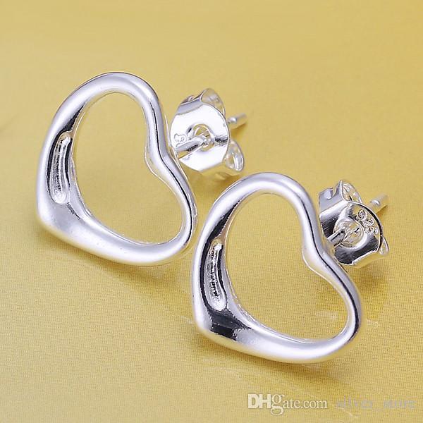 브랜드의 새로운 스털링 실버 플레이트 사랑 귀걸이 DFMSE099, 여성 925 실버 매달려 샹들리에 귀걸이 10쌍 많은
