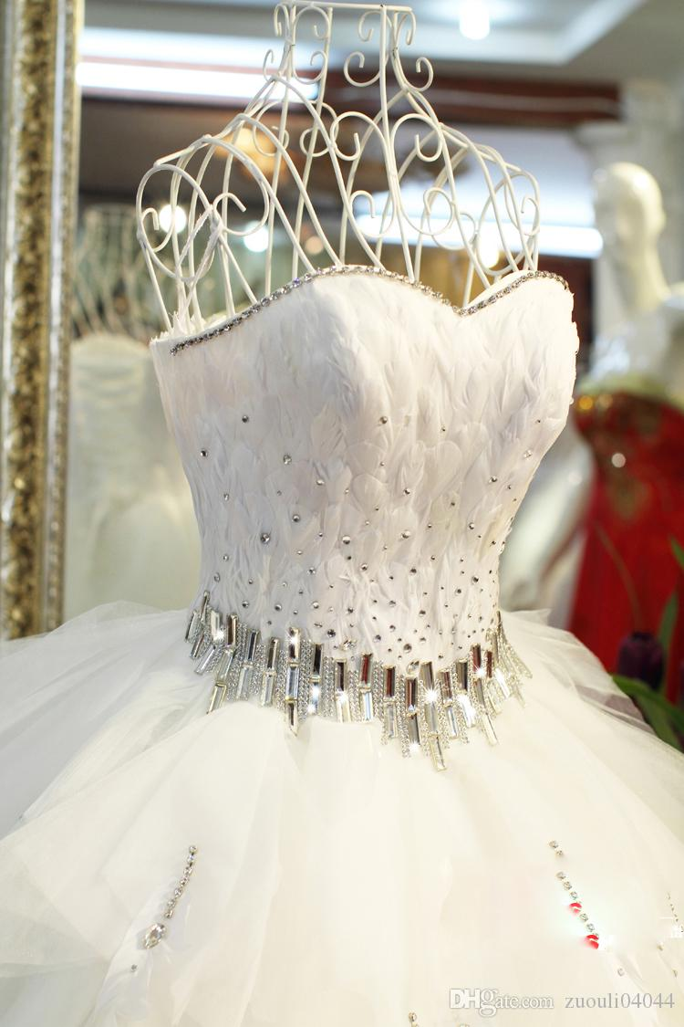 Großhandel Luxus Brautkleider Mit Kristall Bund Ein Online Schatz ...
