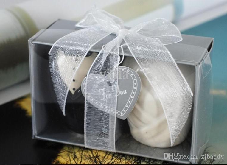 Wedding giveaways souvenirs Ceramic bride and groom salt pepper shakers for Event Party Favors 2PCS/SET 300pcs(150sets) wholesale