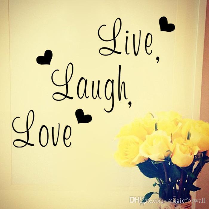 Leben Lachen Liebe Wand Zitat Abziehbild Aufkleber Englische Wrter Home Decor