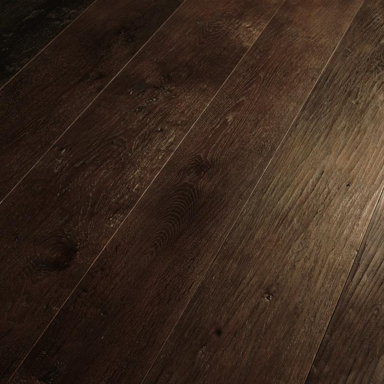 Brushed white oil wood floor Large wooden strip flooring style Antique room floor Asian pear Sapele wood floor