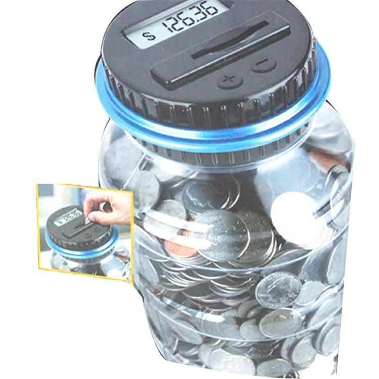 New Creative Digital Money Box Electronic USD Coin Counter Piggy Bank Money Saving Jar Gift With LCD Screen Free Shipping