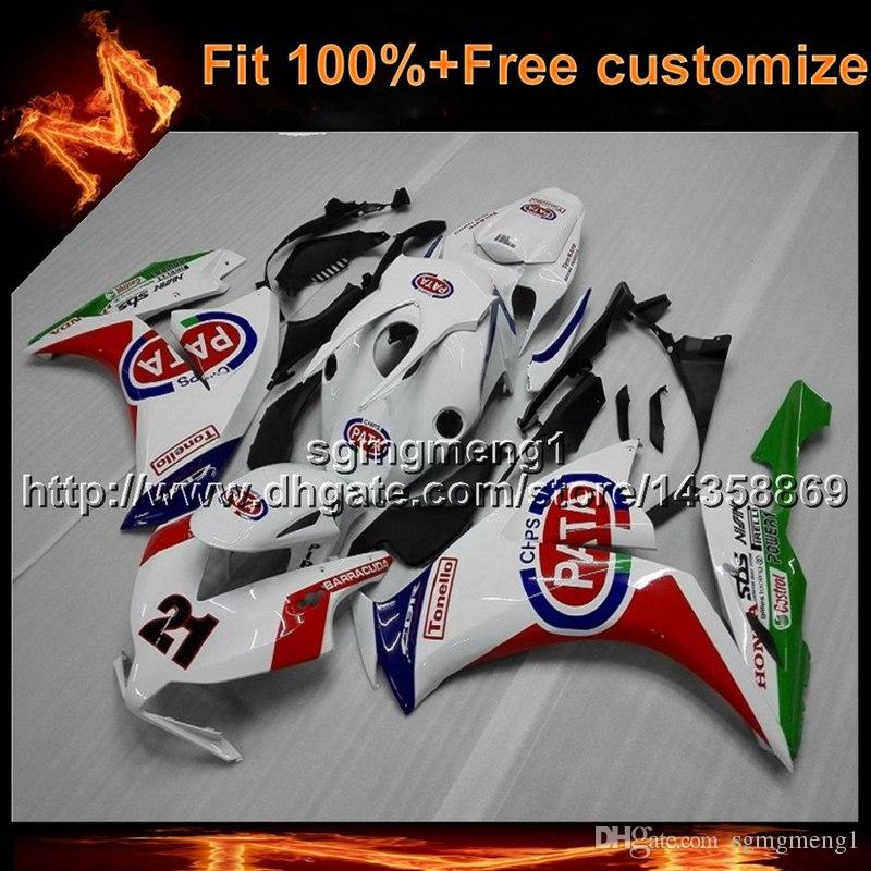 23colors+8Gifts Injection mold RED WHITE motorcycle cowl for HONDA CBR1000RR 2012-2016 CBR1000 RR 12-16 motor cover ABS Plastic Fairing