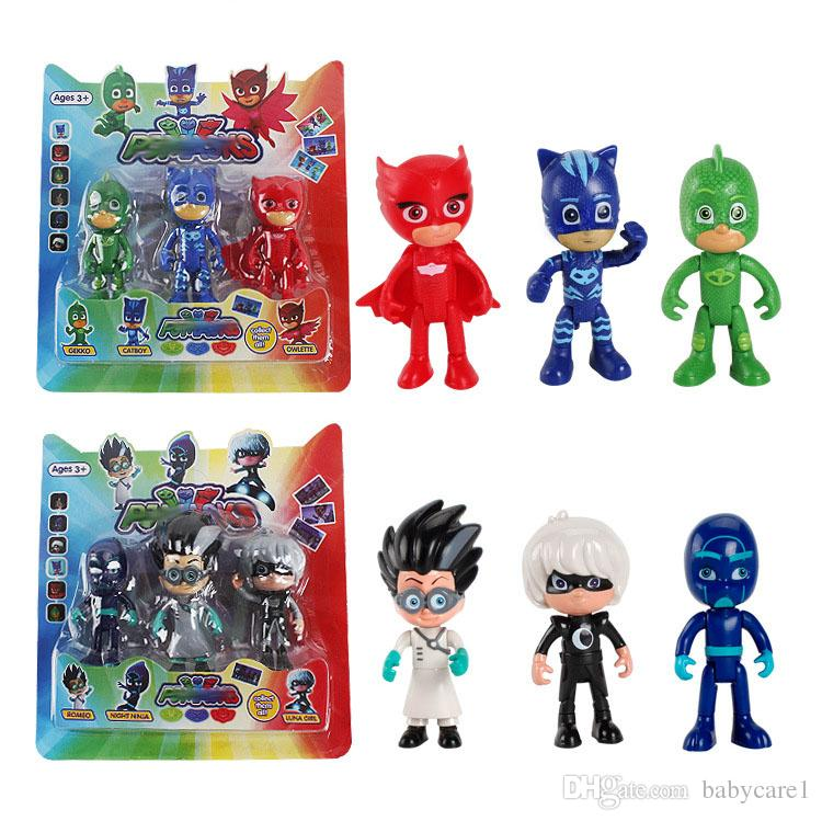 3PCS/Lot PJ Figure Pjmasks Hero Doll Catboy Owlette Gekko Lunar Remeo Juguete Brinquedo PJ Figure Dolls Sets For Kids Gift Toys