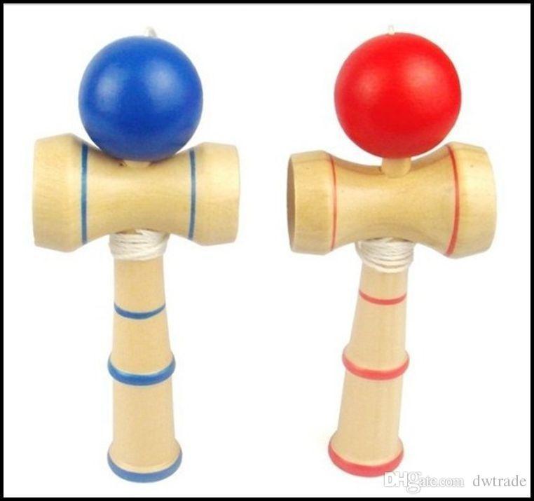 Juguete Bola de Habilidad Jap/ón Tradicional M/ármol Kendama Madera Ni/ños Vino Rojo