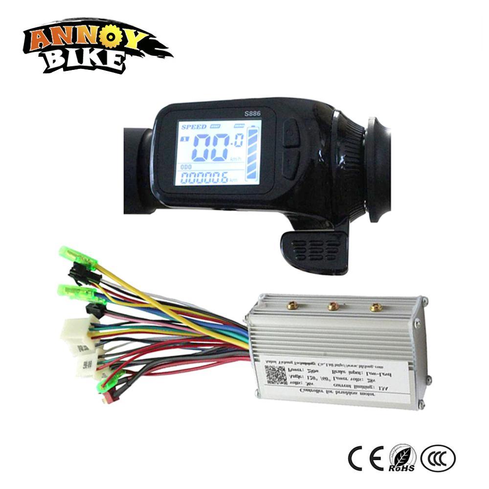 24v 36v 48v Elektro-Bike-Assistent LCD-Display Daumen-Gas-Typ LCD-Display S886 mit abgestimmten Controller