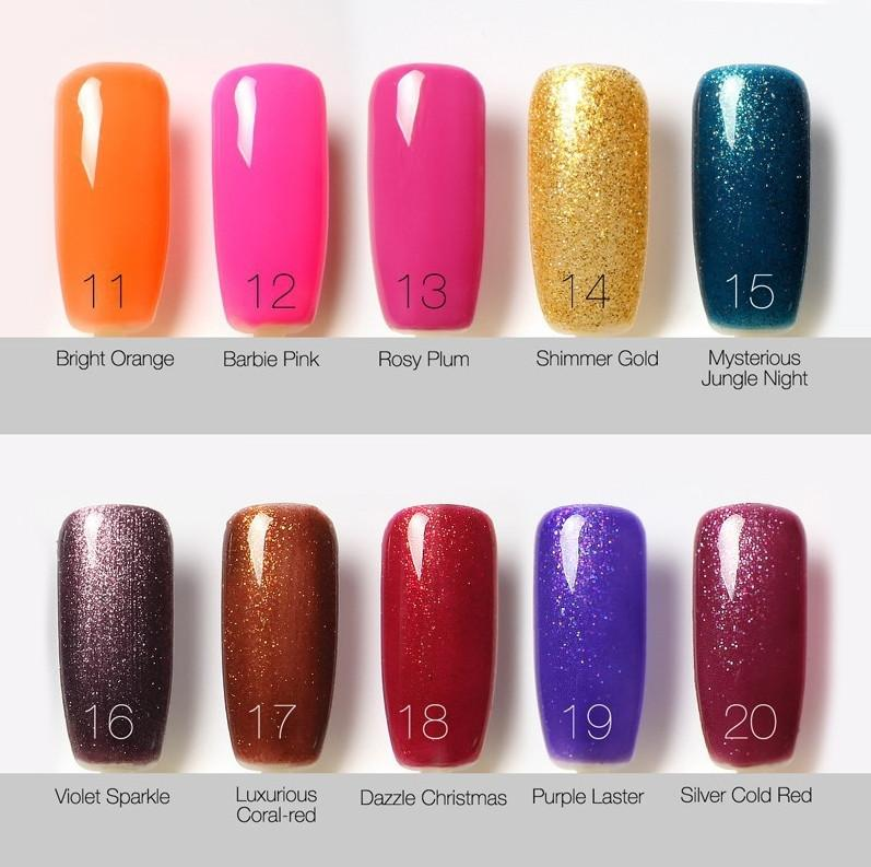 Natural Resin Bling Fashion Soak Off Uv Polish Colors Nail Art ...