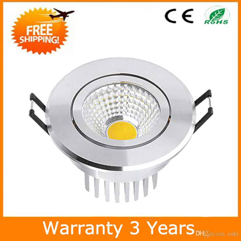 7W LED Downlight COB LED Down Light Dimmable Bulb Ceiling Lighting Recessed 70PCS 100-110LM/W 3 Years Warranty Super Bright