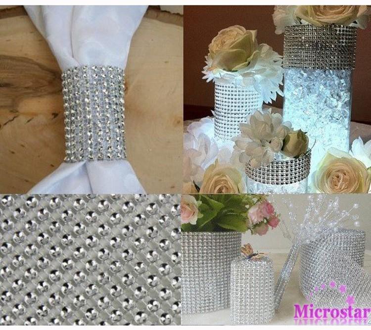 Free-Shipping-New-Popular-24-RowsX10Yds-Diamond-Mesh-Rhinestone-Ribbon-Crystal-Wrap-For-Wedding-Party-Decor