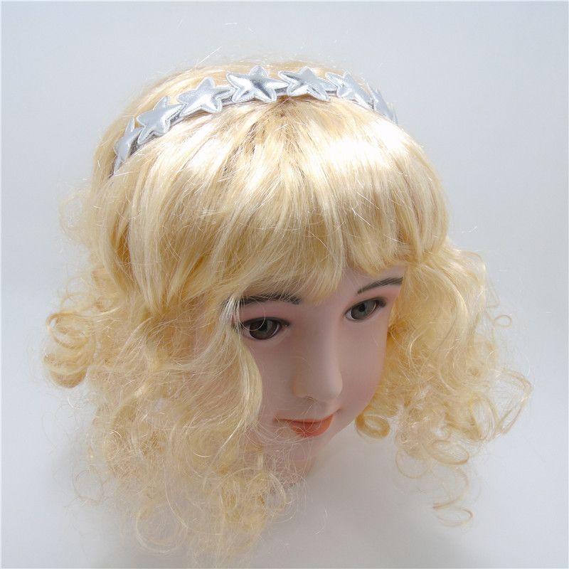 Cute Princess Head Wear Accesorios de diadema de hadas de moda de alta calidad Silver Star Gold Crown Girls Headband Kid Hairband