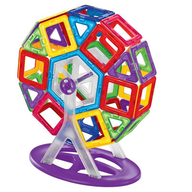 36 unids / set ladrillos de juguete de construcción magnética similar piezas repuestos de ferris plástico en bloques magnéticos a granel