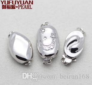 Envío libre Al por mayor de accesorios de perlas Yu fu yuan 925 collar de perlas de plata pulsera pulsera YPJ90