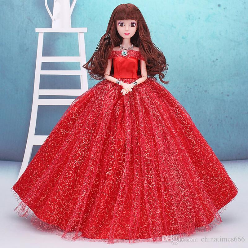 Compre Kawaii 30 Cm Niñas Muñecas Juguetes Con Vestidos De Novia Para Regalo De Los Niños De Plástico De Moda Mini Dolly Movible 12 Articulaciones
