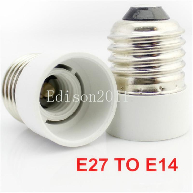 White color Lamp Holder adapter Converters Base Converter E14 to E27 or E27 to E14 for LED candle light LED bulbs screw base
