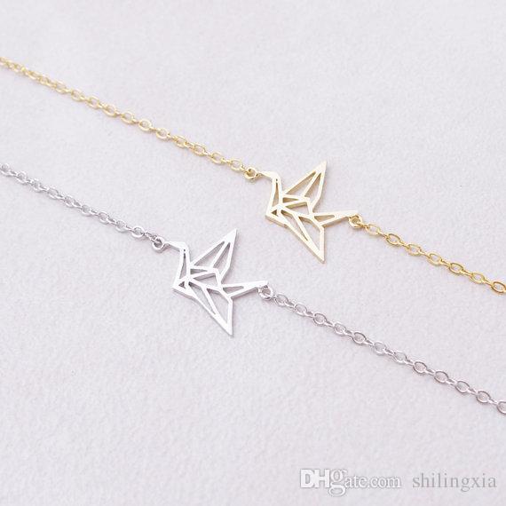 Chain Animal Origami Crane Bracelet for Women Fashion Animal Bird Chram Bracelets Party Gift