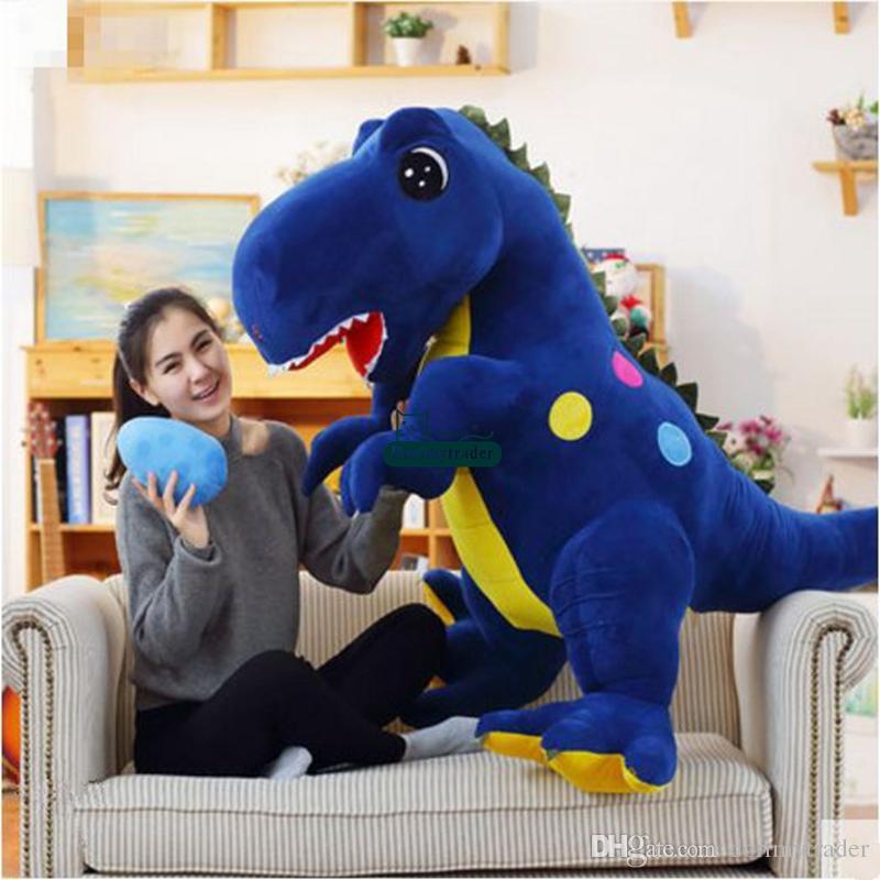 Dorimytrader große Pop Anime Tyrannosaurus Rex Plüschtier riesige Cartoon Dinosaurier Puppe Dinosaurier Eier Weihnachtsgeschenk 63 Zoll 160cm