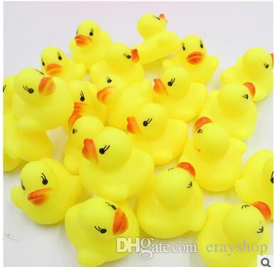 Cheap Mini Yellow Rubber Ducks Baby Bath Water Toys for sale Kids Bath PVC Duck with sound Floating Duck wholesale