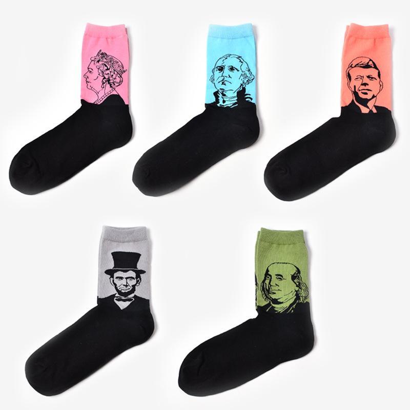 YENI Orijinal Yaratıcı Tasarım Kadın Erkek Pamuk Sanat Çorap Van Gogh Yağlıboya Çorap Ünlü Insanlar portre Çorap