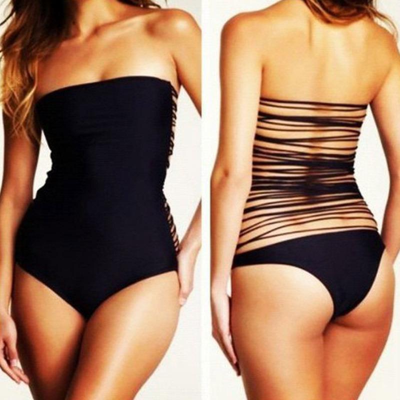 مثير قطعة واحدة تسبح الدعاوى الملتصقة البرازيلي جوفاء وراء monokini ملابس السباحة مايوهات للنساء