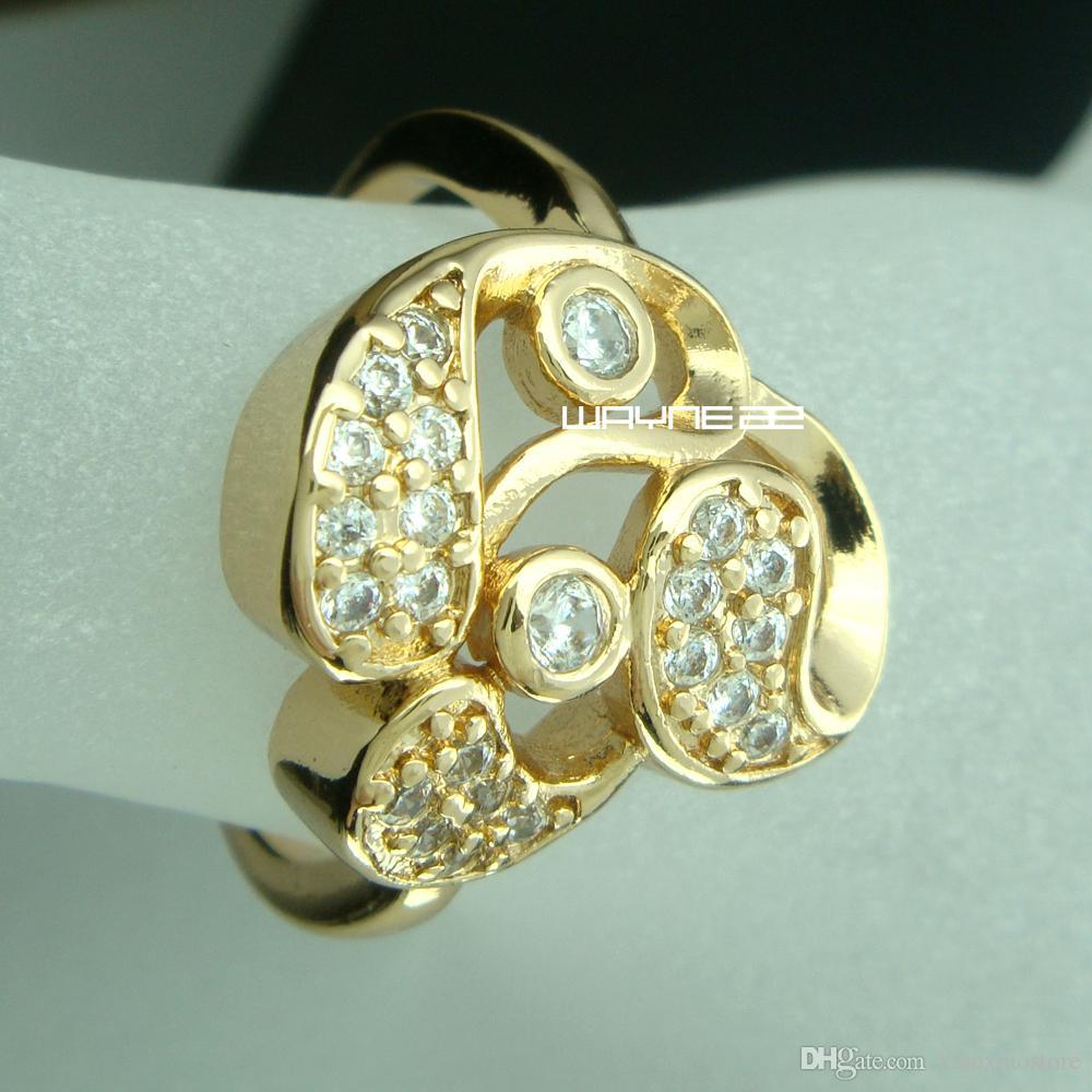 Очаровательное обручальное обручальное обручальное кольцо из 18-каратного золота Sz O-Q R238