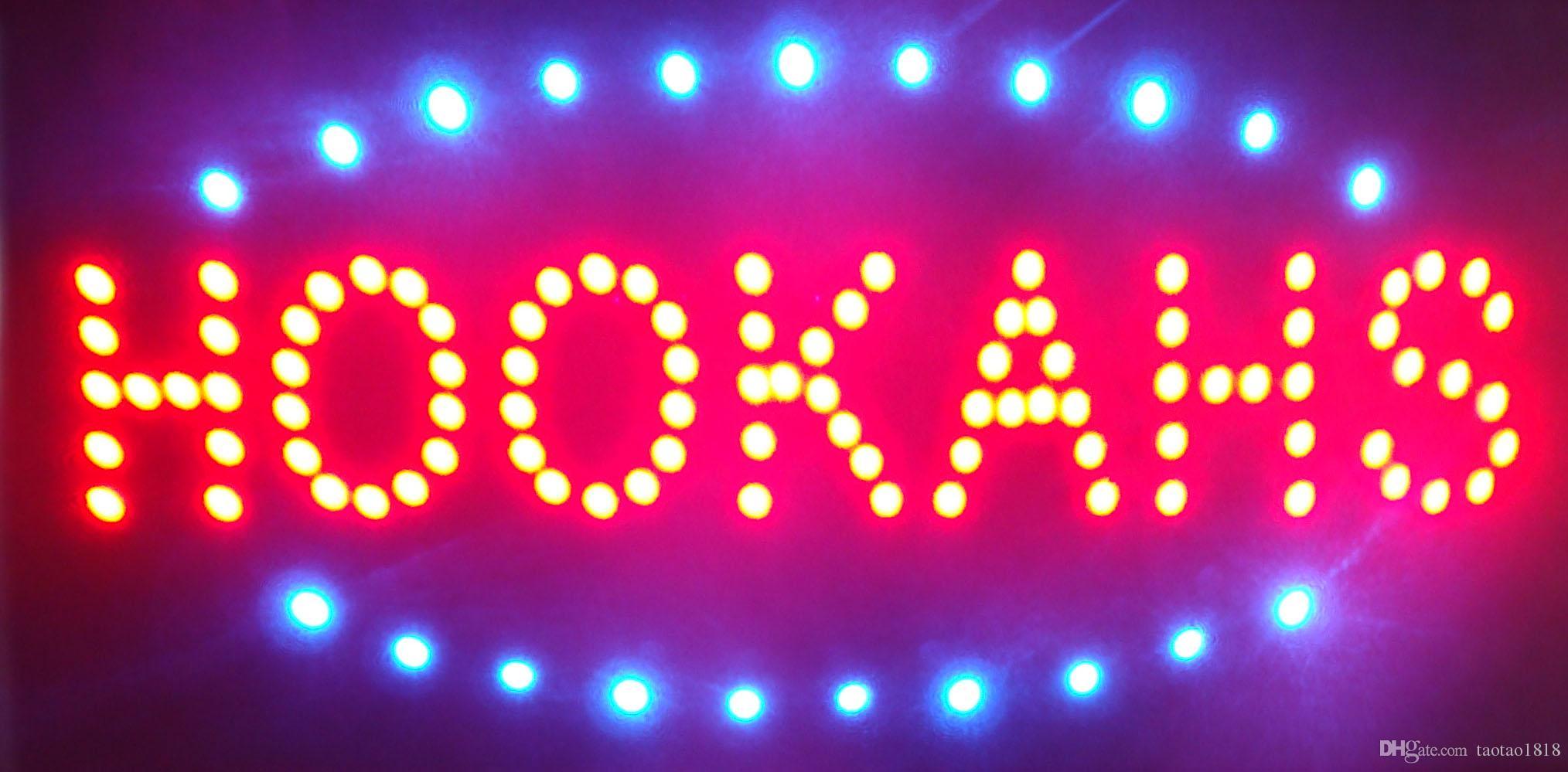 LED nargile işareti plastik PVC çerçeve ekran boyutu 10cm * 19cm inç