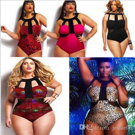 أحدث زائد حجم النساء الرجعية هامش أعلى ارتفاع الخصر بيكيني مثير المطبوعة ملابس قطعة واحدة ملابس السباحة دعوى الصيف ملابس الشاطئ بذلة