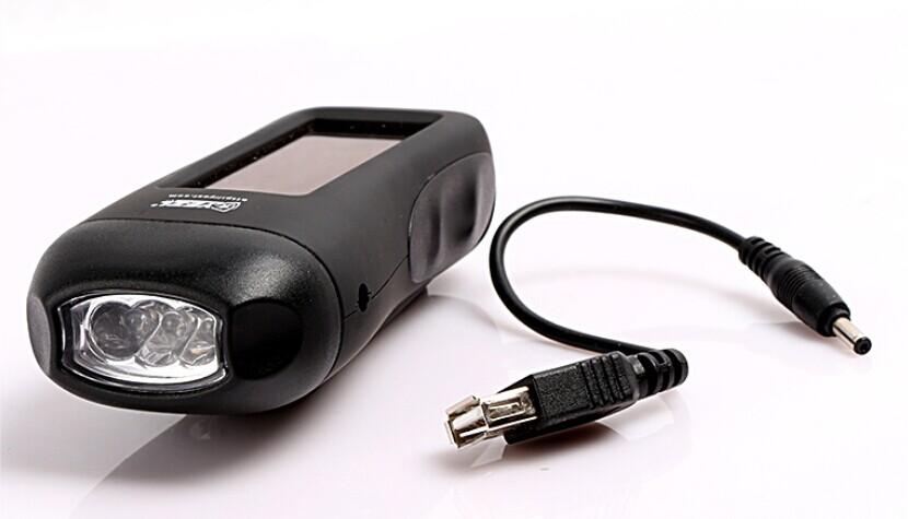 Słoneczna siła siły na zewnątrz światło awaryjne USB ładowarka telefonii komórkowej USB