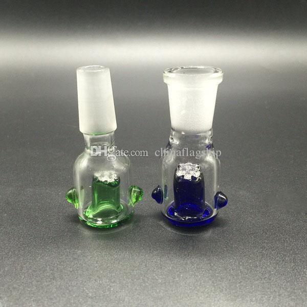 Cuenco de cristal al por mayor con la pantalla del panal Alrededor de 14.4mm 18.8mm junta femenina masculina 2 color opcional para los tubos de agua del vidrio Bongs