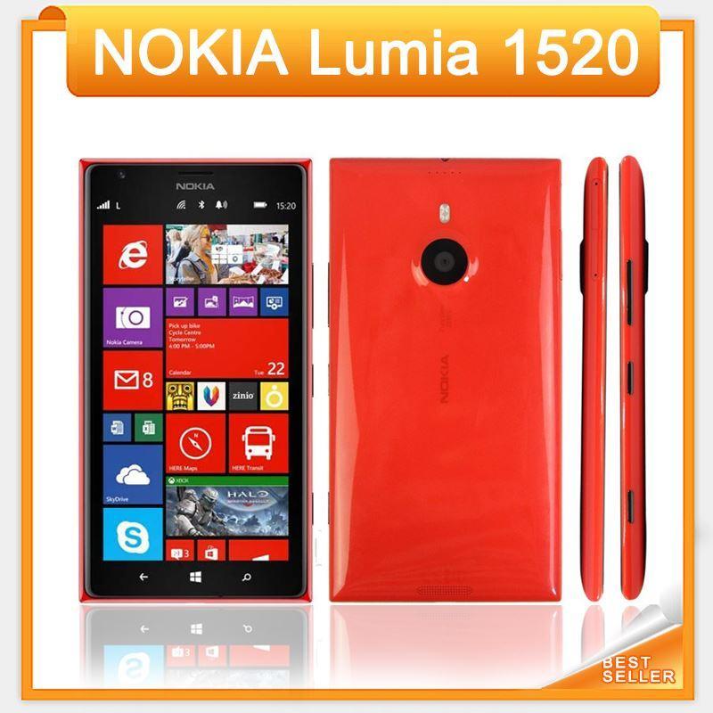 Originale Lumia 1520 Nokia Windows 8 Quad Core 2 GB RAM + 32 GB ROM 3G 4G 6 pollici Spedizione gratuita Nokia Lumia 1520 telefono rinnovato
