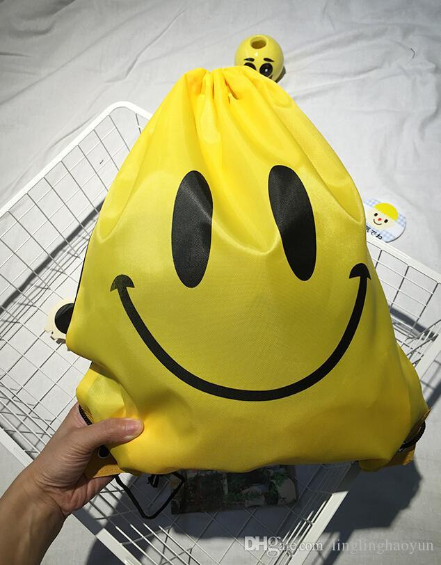 Best Selling New Emoji Gym Bag Travel Backpack Hiking Shoulder Fashion Portable Swimming Package Smile