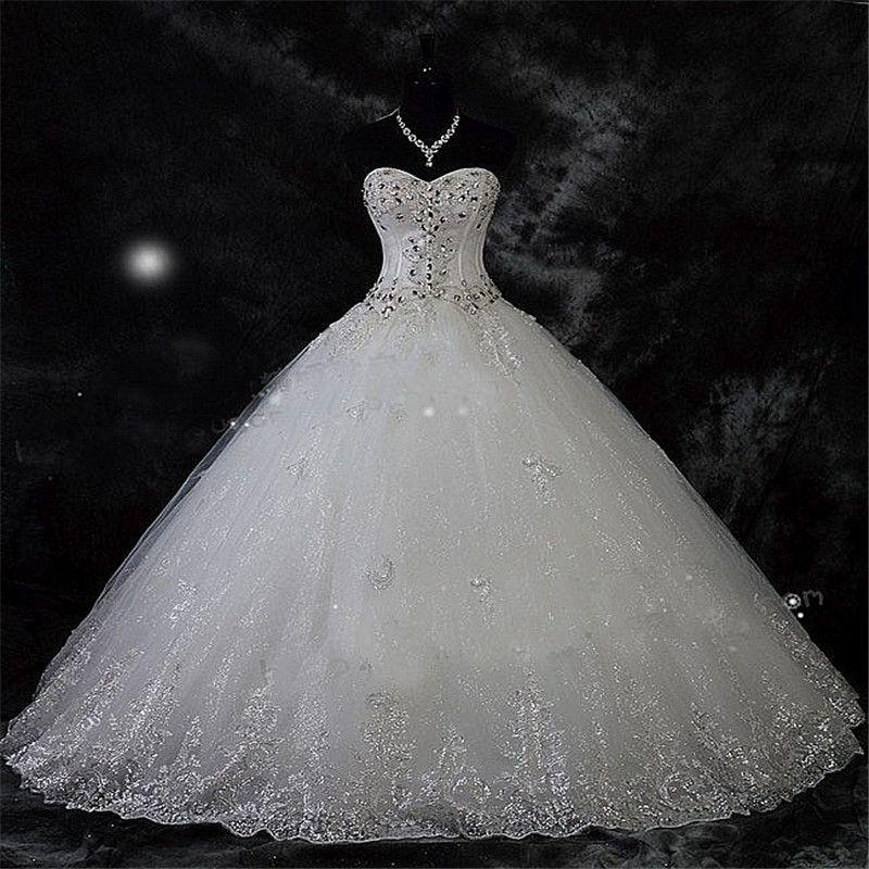 Robe de Mariage Lace Strass Plus Size Ballkleid Brautkleider 2021 Hochzeit Brautkleider Vestido de Novia