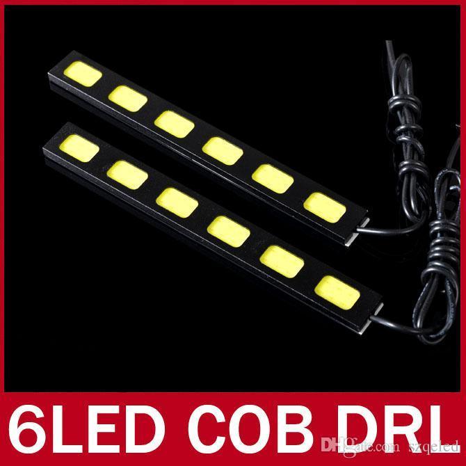 2X COB светодиодные бар автомобилей высокой мощности дневного света DRL туман дальнего света белый 3 светодиода 4 светодиода 5 светодиодов 6 светодиодов модуль чип 12 В