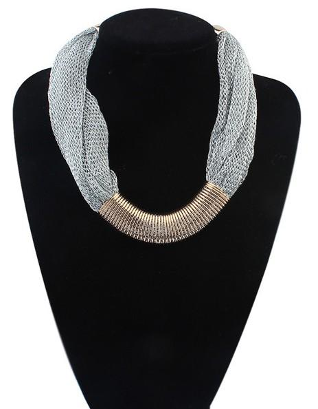 Bohemian Style Metal Multi layer Chain Choker Chunky Necklaces For Women Punk Jewelry Gifts 3 Colors HZ