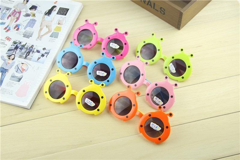 Lieveheersbeestje zonnebril spiegel zonnebril baby leuke zonnebril cartoon bug zonnebril voor jongens en meisjes kind gratis verzending
