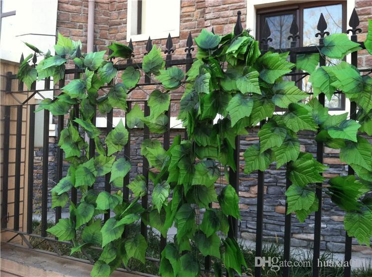 240 centimetri recinzione simulazione di seta artificiale uva foglia rampicante verde foglie di rattan per la decorazione domestica bar ristorante recinzione decorazione