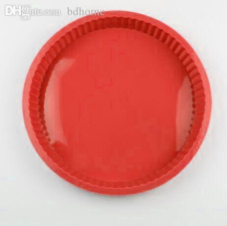 """Wholesale-HOT SALE NEW POPULAR 10"""" ROUND SILICONE PIZZA PAN NON STICK PIZZA MOLD PIZZA TRAY FOR MAKING PIZZA TOOL"""