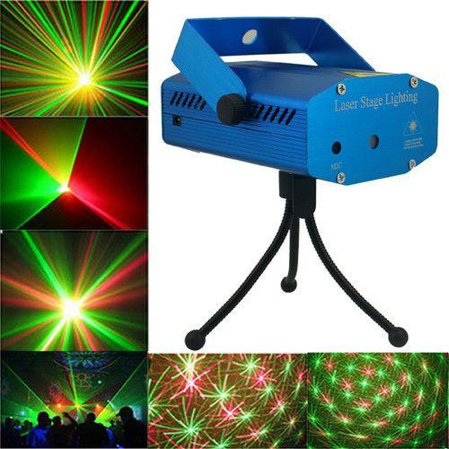 Livraison gratuite ! Nouveau Bleu / Noir Mini Projecteur Rouge Vert DJ Disco Light Stage Xmas Party Eclairage Laser Show Eclairage Laser