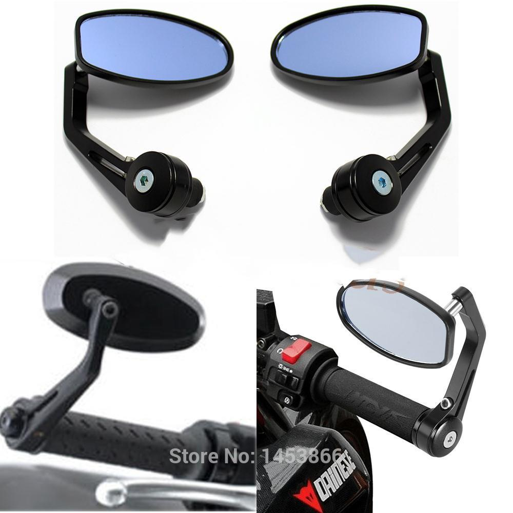 """UNIVERSAL 7//8/"""" CLAMP ON MIRROR LEFT OR RIGHT CUSTOM MOTORBIKE CAFE RACER SCOOTER"""