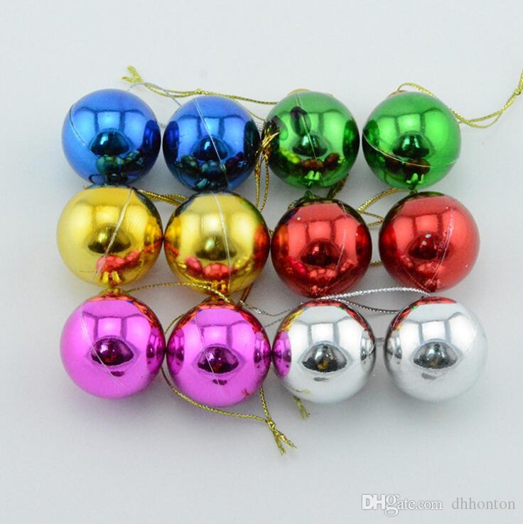 Six piece 1.2-3.9 inch Plastic Bauble Christmas decorative Balls To Decorate Chrismas Tree Plastic Ball free shipping CB0102