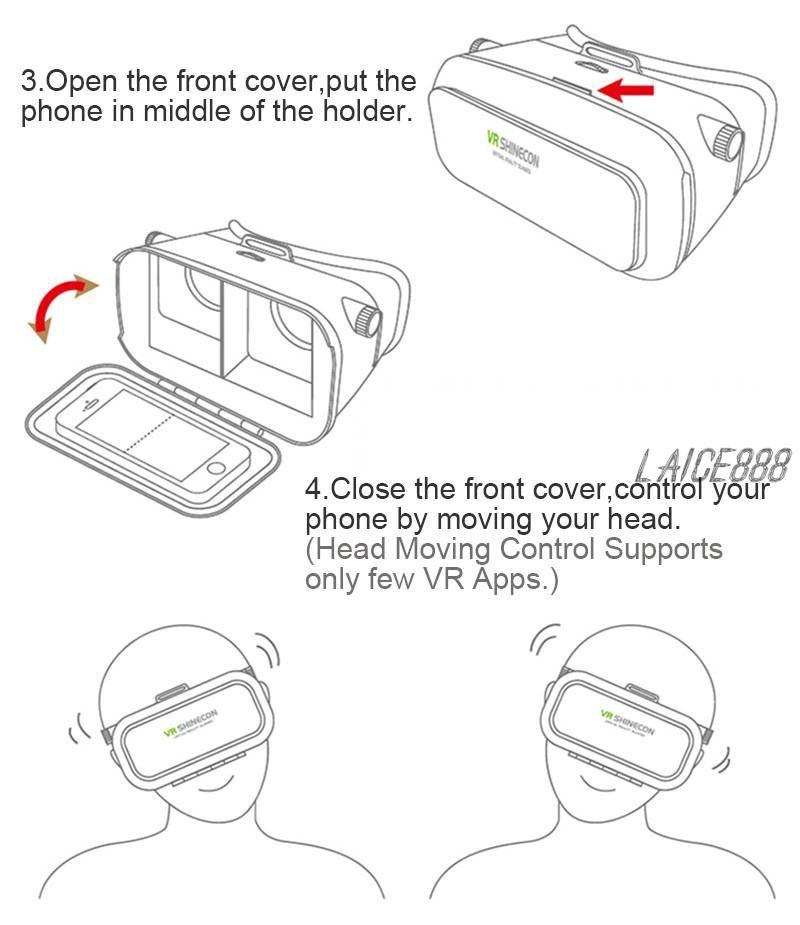 2019 Dhl Professional Google Head Mount Cardboard Vr Box Headset