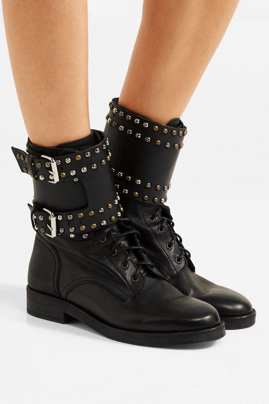 Rivet cristal embellie bout rond talon bas lacets femmes bottes de moto croisées noir occasionnel femelle sexy bottines