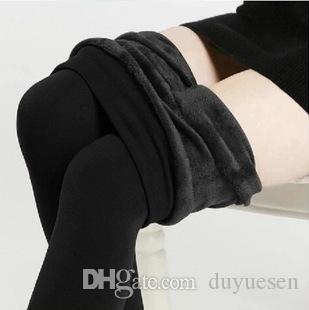 Дизайн бренда Trend вязание горячей продажи зима новая высокая эластичная утолщение легинги теплые брюки тощие брюки для женщин