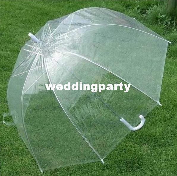 продажа 20 шт. / лот розничная мода Аполлон прозрачный зонтик ясно пузырь зонтик Сплетница гриб зонтик