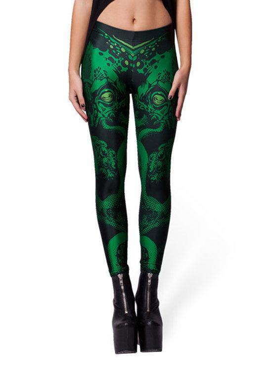 Wholesale Halloween Fashion 2013 Womens Leggins Digital Printing CTHULHU LEGGINGS Woman Pants FG1510