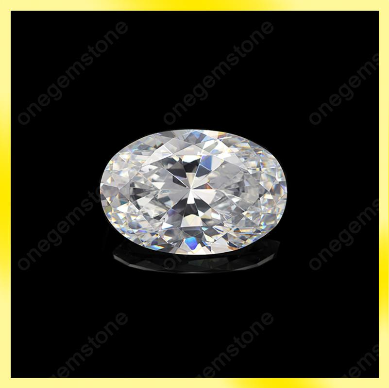 Excellent quality oval shape 10x14mm cubic zirconia synthetic gemstone replacement for diamond