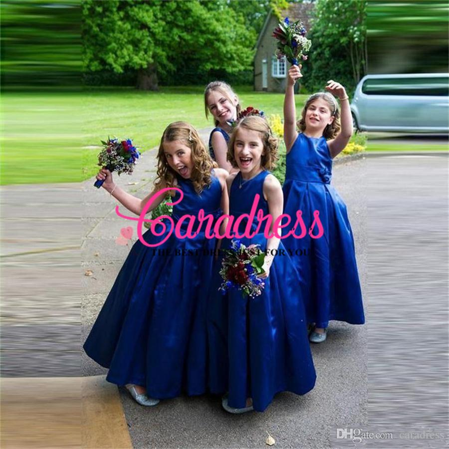 Royal blue junior bridesmaid dress flower girl dresses for wedding royal blue junior bridesmaid dress flower girl dresses for wedding jewel pageant dresses with flowers zipper ombrellifo Image collections