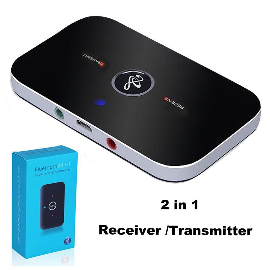 Adattatori audio Bluetooth Wireless Bluetooth 4.2 Trasmettitore e ricevitore 2 in 1 da 3,5 mm Car Kit per TV / Home Stereo Sistema cuffie Altoparlante