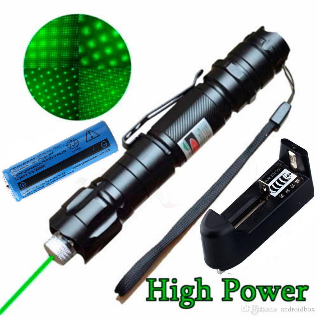 Hot New High Power Militaire 5 Miles 532nm Vert Laser Pointeur Stylo Visible Beam Lazer avec Star Cap Livraison Gratuite